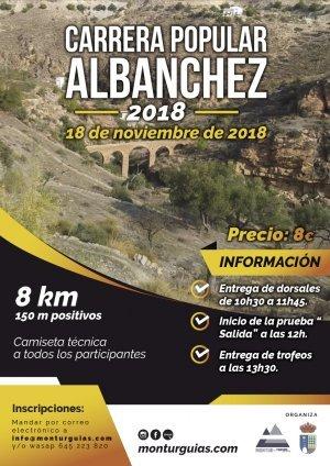 Cartel Carrera Popular Albanchez 2018